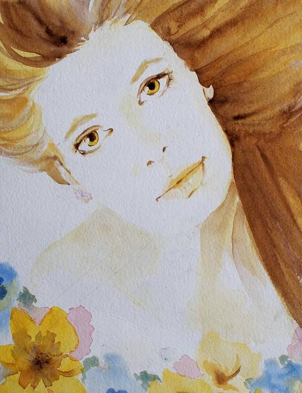 Watercolour Poster featuring the painting Still Waters' Reflection by Janice Gell