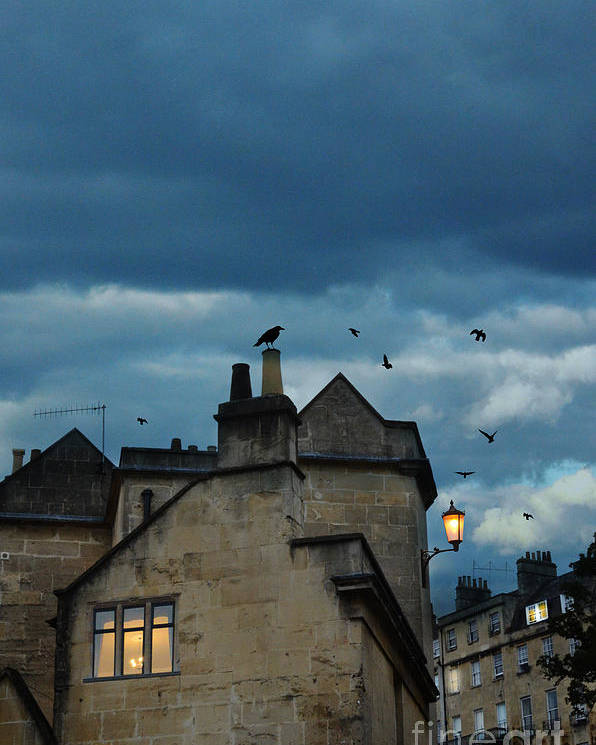 Bath Poster featuring the photograph Storm Above Town by Jill Battaglia