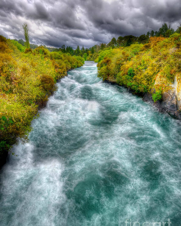 Wild Poster featuring the photograph Stormy River by Colin Woods