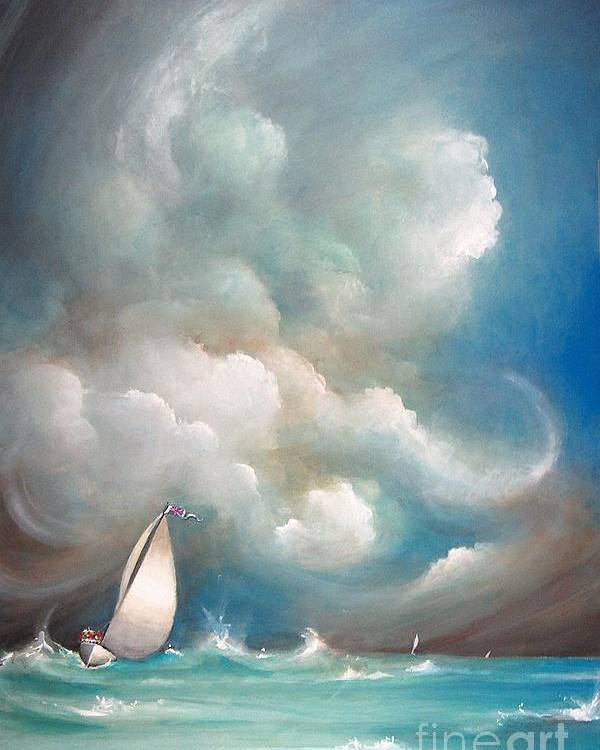Acrylics Poster featuring the painting Stormy Sunday by Artist ForYou