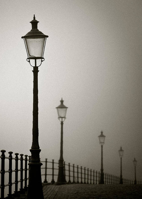 Maastricht Poster featuring the photograph Street Lamps by Dave Bowman