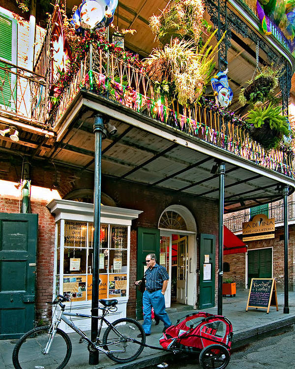 French Quarter Poster featuring the photograph Strolling In The Quarter by Steve Harrington