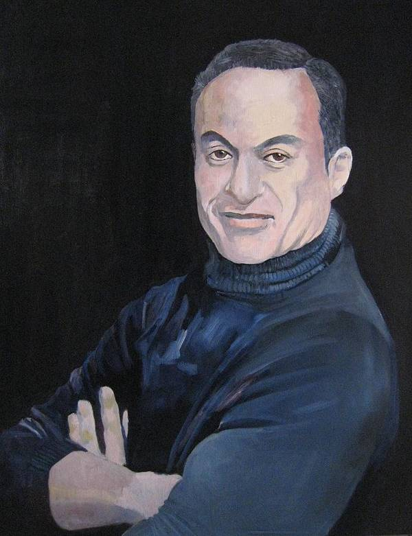 Male Poster featuring the painting Study For Felix by Ray Agius