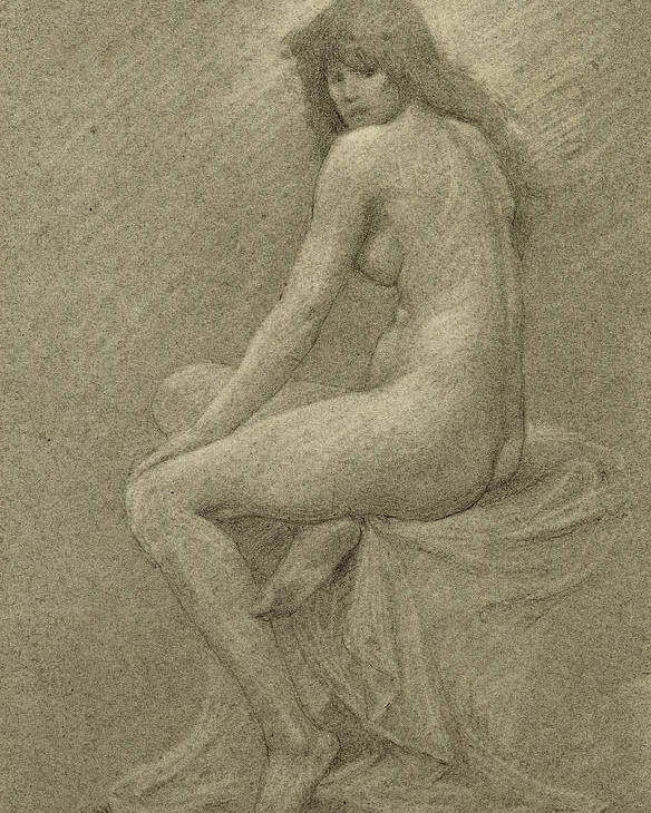 Study Poster featuring the drawing Study For Lilith by Robert Fowler