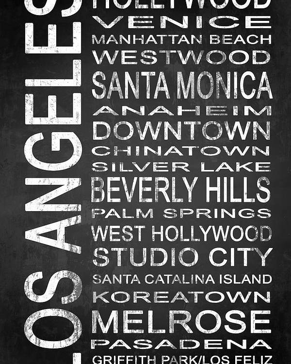 Art Poster featuring the digital art Subway Los Angeles 1 by Melissa Smith