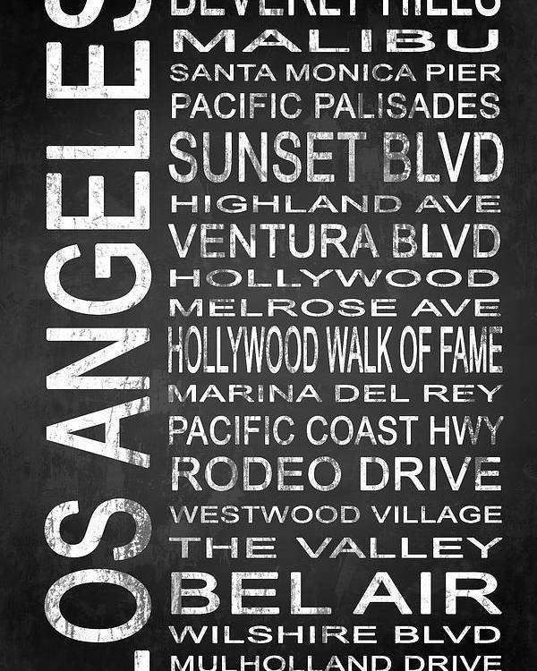 Art Poster featuring the digital art Subway Los Angeles 2 by Melissa Smith