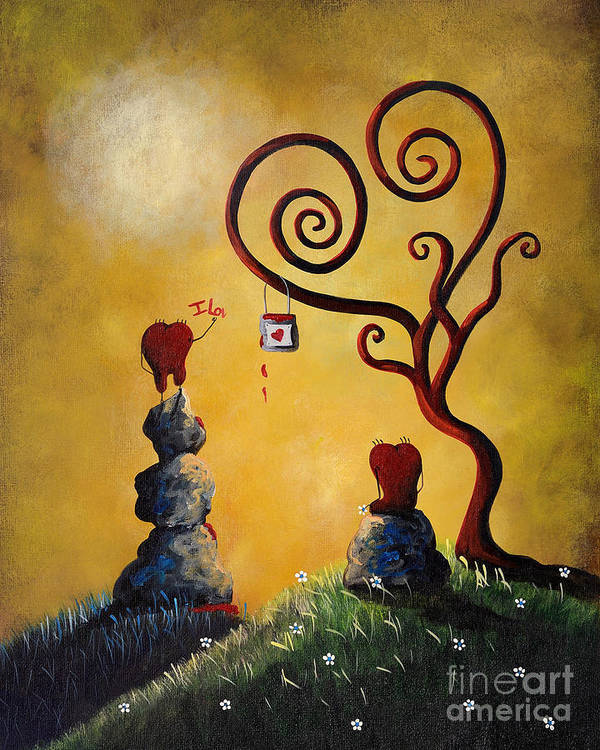 Love Poster featuring the painting Such A Romantic By Shawna Erback by Erback Art