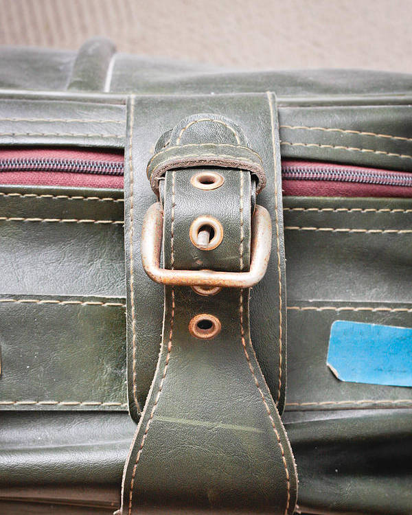 Accessories Poster featuring the photograph Suitcase Buckle by Tom Gowanlock