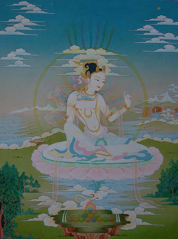 Poster featuring the painting Sukkhasiddhi The Great Yogini by Binod Art School