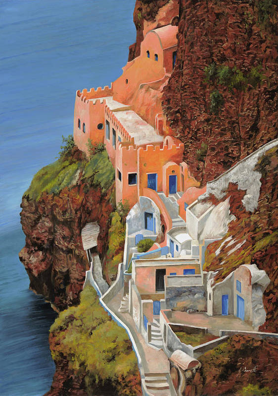 Greece Poster featuring the painting sul mare Greco by Guido Borelli