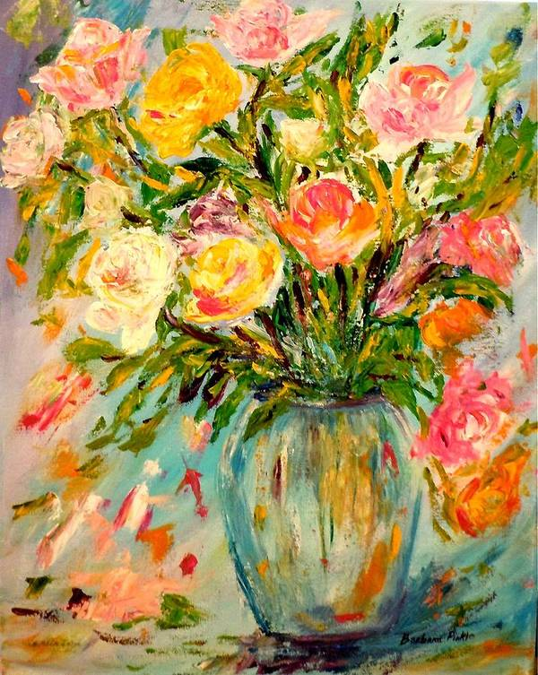 Still Life Poster featuring the painting Summer Bouquet by Barbara Pirkle