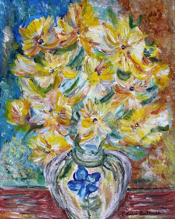 Flowers Poster featuring the painting Summer Reflections by Louise Burkhardt