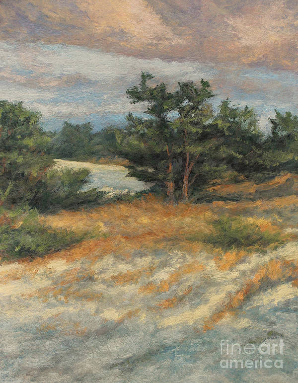 Summer Afternoon Poster featuring the painting Summer Shadows - Provincetown by Gregory Arnett