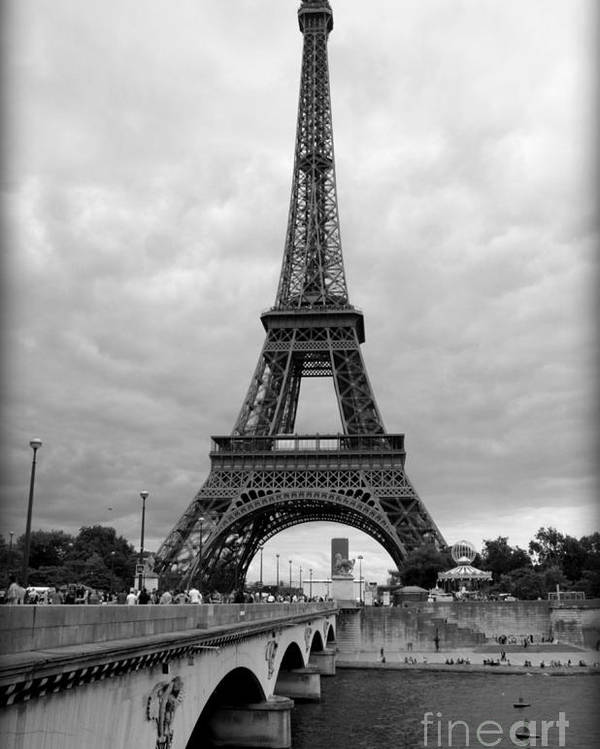 Architecture Poster featuring the photograph Summer Storm Over The Eiffel Tower by Carol Groenen