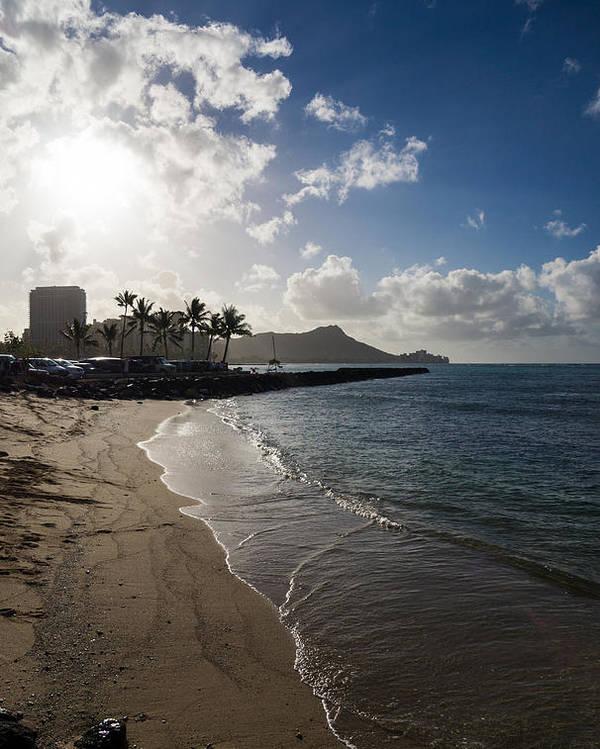 Waikiki Poster featuring the photograph Sun Sand And Waves - Waikiki Honolulu Hawaii by Georgia Mizuleva