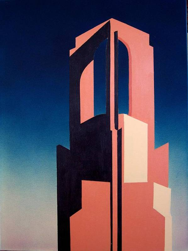 Church Spire Poster featuring the painting Sunday afternoon Newport by Philip Fleischer