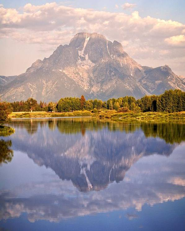 Grand Teton National Park Poster featuring the photograph Sunrise At Oxbow Bend 2 by Marty Koch