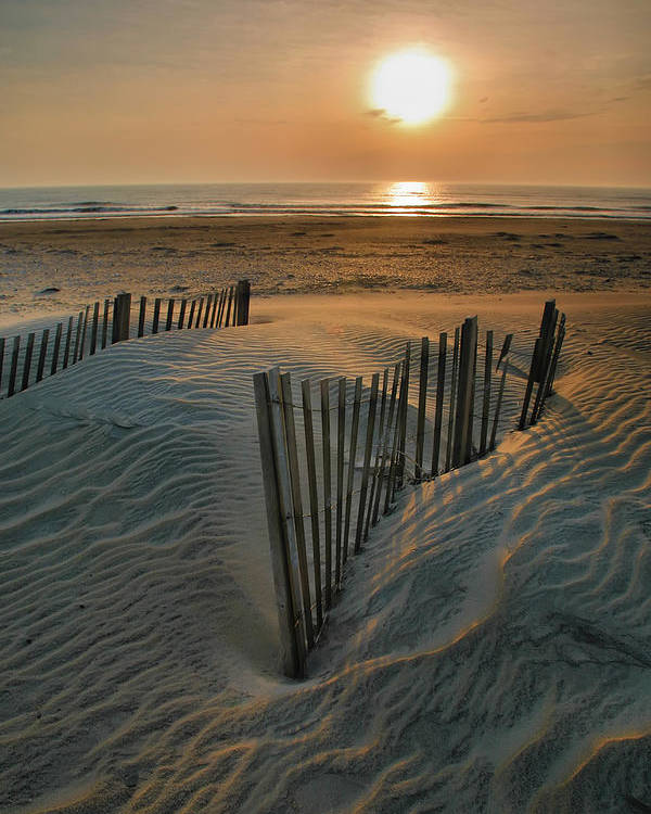 Outer Banks Prints Poster featuring the photograph Sunrise Over Hatteras by Steven Ainsworth