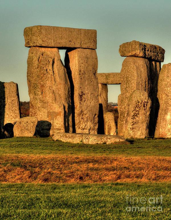 Stonehenge Poster featuring the photograph Sunset At Stonehenge 2 by Deborah Smolinske