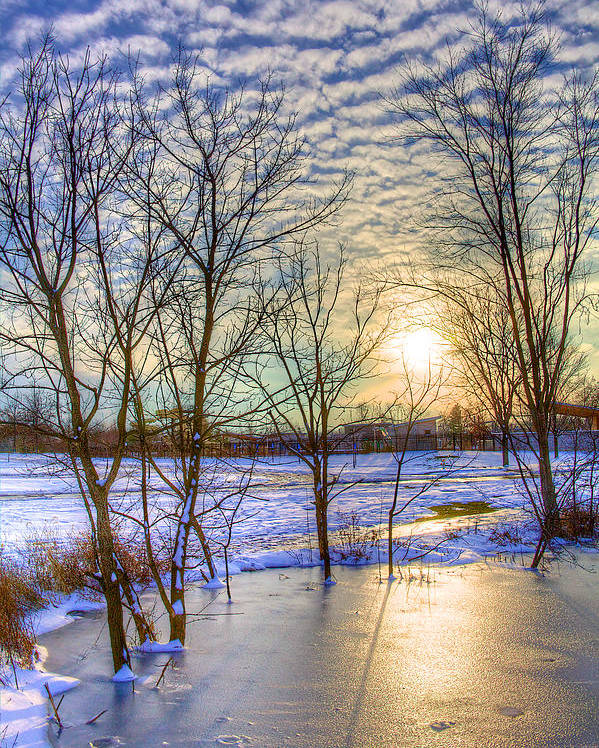 Winter Poster featuring the photograph Sunset Over Ice by William Wetmore