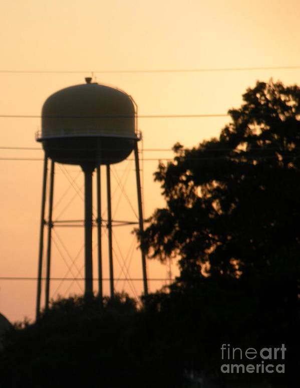 Water Tower Poster featuring the photograph Sunset Water Tower by Joseph Baril