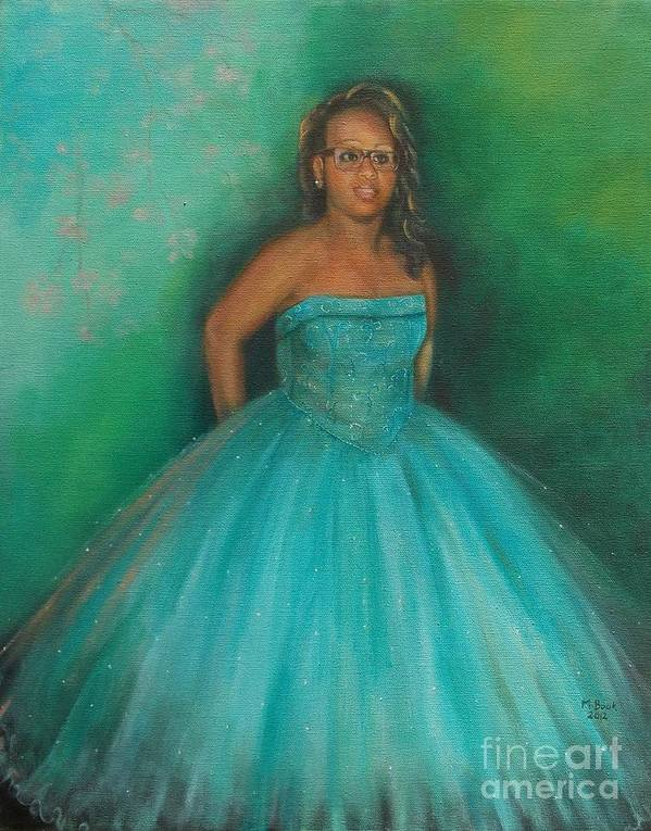 Girl Poster featuring the painting Sweet Sixteen by Marlene Book