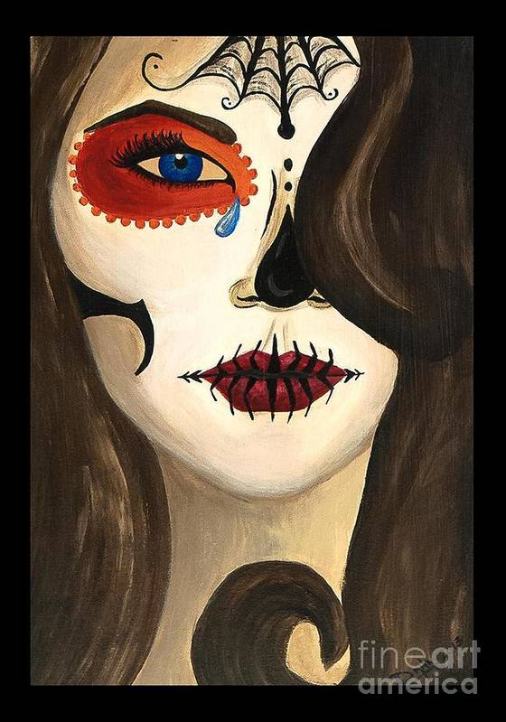 Day Of The Dead Poster featuring the painting Sweet Sorrow by Dana Hammack
