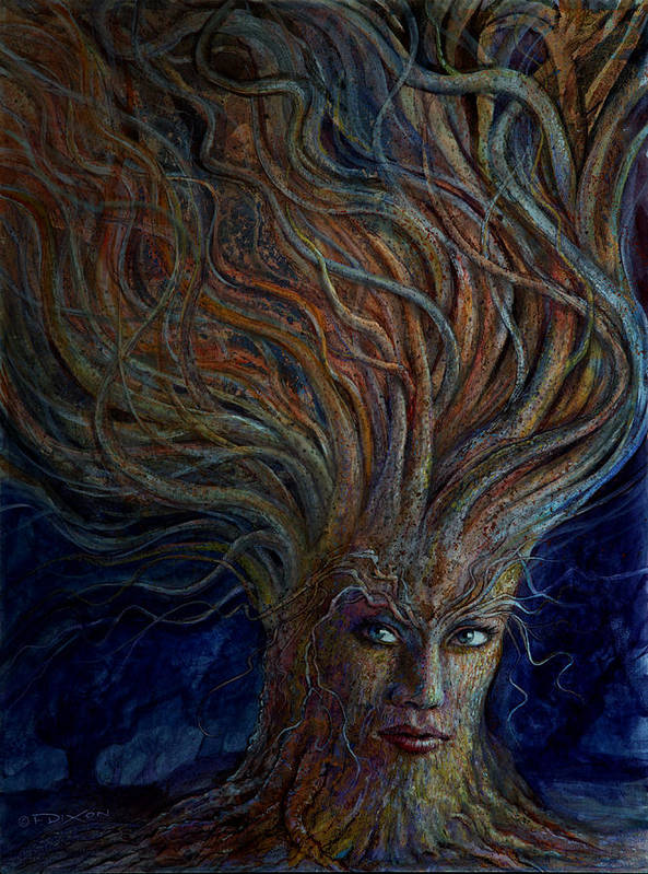 Women Poster featuring the painting Swirling Beauty by Frank Robert Dixon
