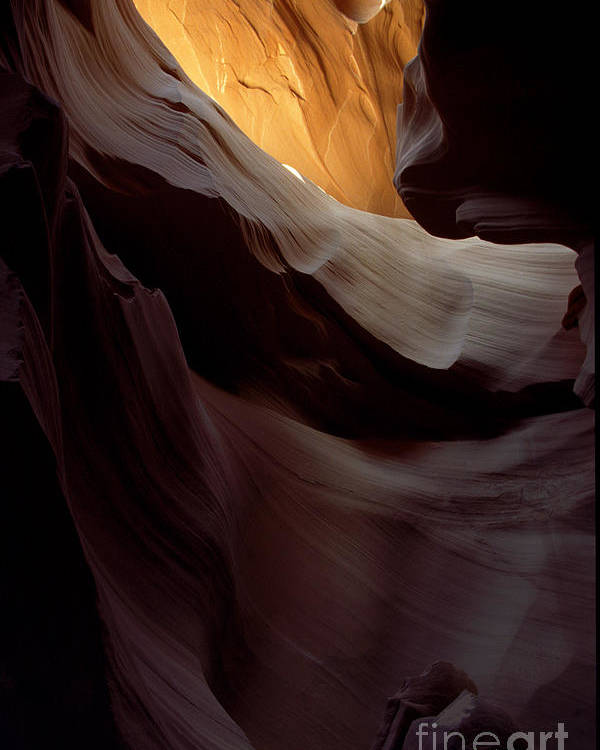 Slot Canyons Poster featuring the photograph Swopes by Kathy McClure