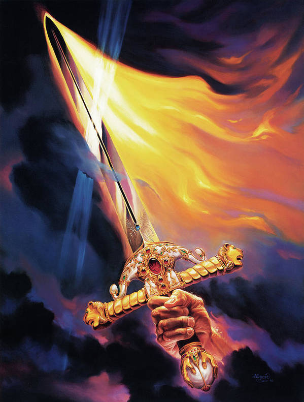 Jeff Haynie Poster featuring the painting Sword Of The Spirit by Jeff Haynie