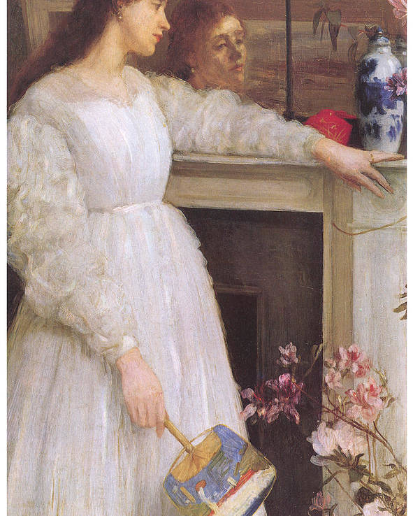 James Abbott Mcneill Whistler Poster featuring the painting Symphony In White No 2 The Little White Girl by James Abbott McNeill Whistler
