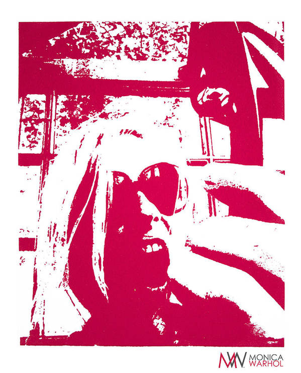 Monica Warhol Poster featuring the painting Ta Ta Telephone by Monica Warhol