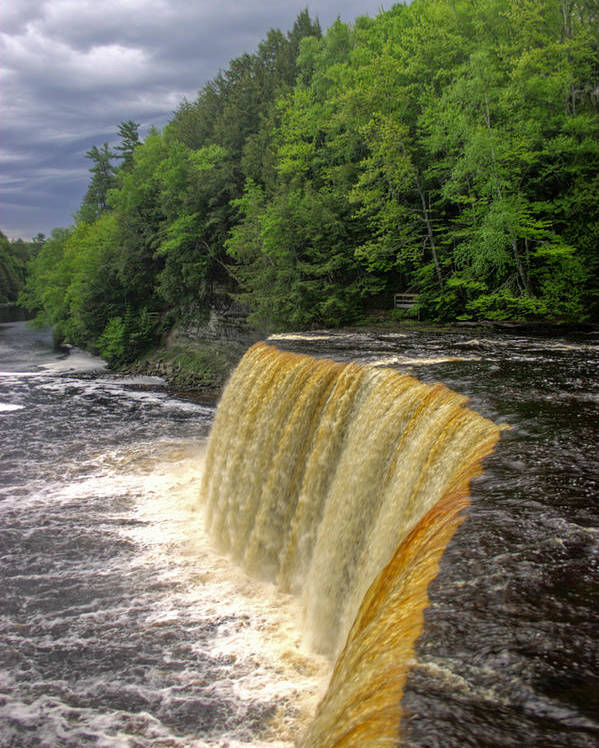 Waterfall Poster featuring the photograph Tahquamenon Falls by Tom Winfield