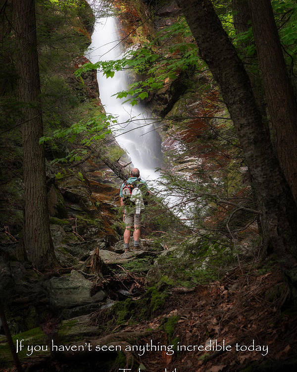 Race Brook Falls Poster featuring the photograph Take A Hike by Bill Wakeley