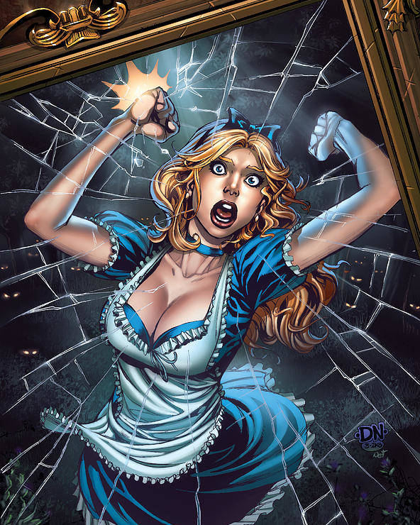 Grimm Fairy Tales Poster featuring the digital art Tales From Wonderland Alice by Zenescope Entertainment
