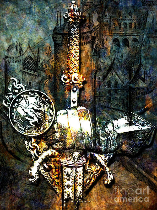 Knights Poster featuring the mixed media Tales Of Chivalry by Tammera Malicki-Wong