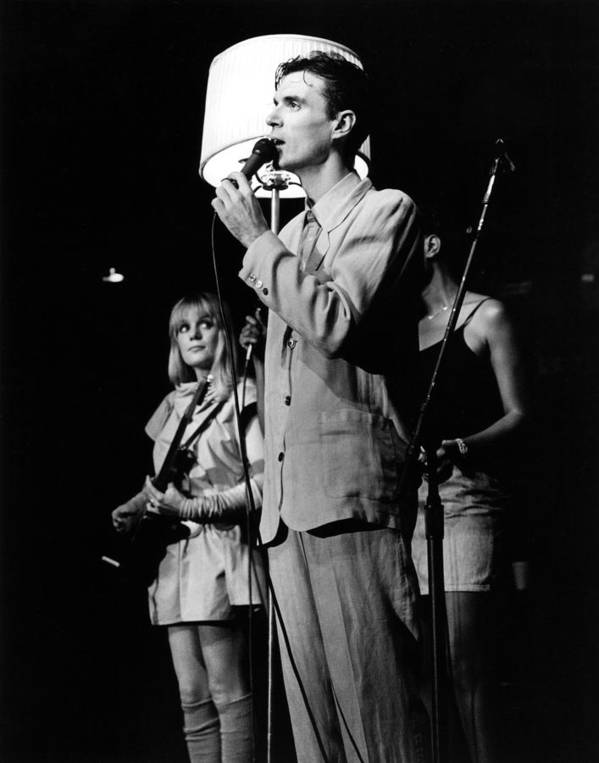 Talking Heads Poster featuring the photograph Talking Heads 1983 by Chris Walter