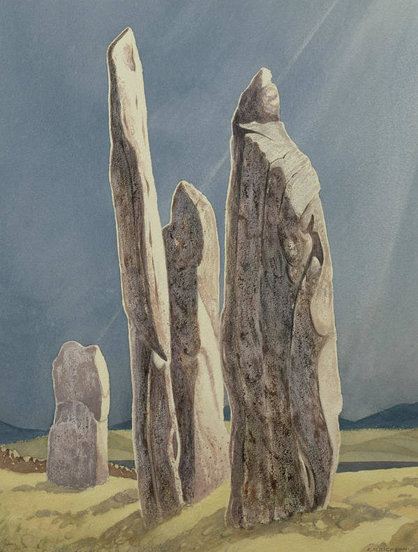 Legend Poster featuring the painting Tall Stones Of Callanish Isle Of Lewis by Evangeline Dickson