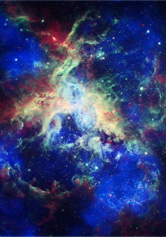 Tarantula Nebula Poster featuring the photograph Tarantula Nebula 4 by Jennifer Rondinelli Reilly - Fine Art Photography