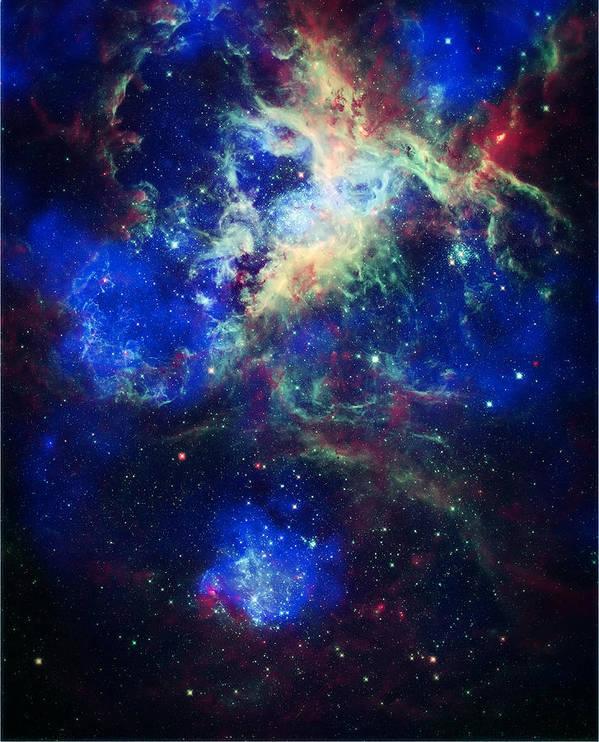 Tarantula Nebula Poster featuring the photograph Tarantula Nebula 5 by Jennifer Rondinelli Reilly - Fine Art Photography