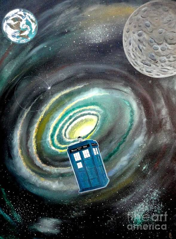 John Lyes Poster featuring the painting Tardis by John Lyes