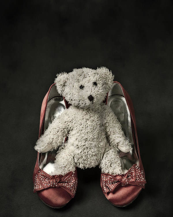 Shoe Poster featuring the photograph Teddy In Pumps by Joana Kruse