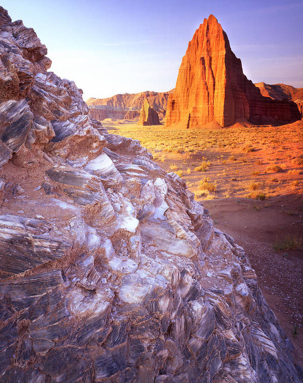 Capitol Reef National Park Poster featuring the photograph Temple Of The Sun by Ray Mathis