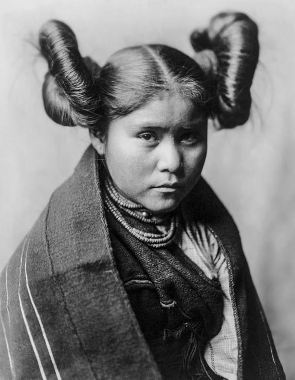 1907 Poster featuring the photograph Tewa Girl by Aged Pixel