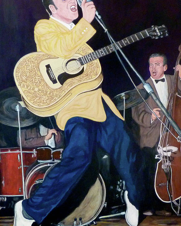 Elvis Presley Poster featuring the painting Thank You Very Much by Tom Roderick