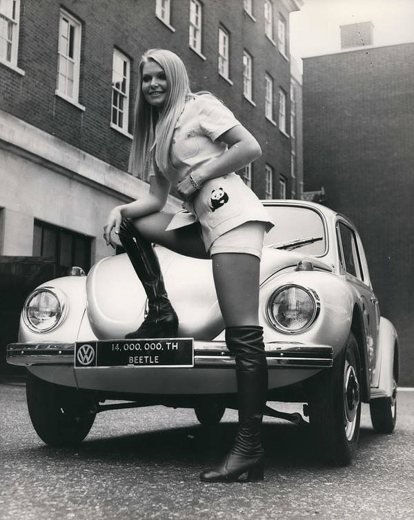 retro Images Archive Poster featuring the photograph The 14 Millionth Volkswagen Beetle Given To The World by Retro Images Archive