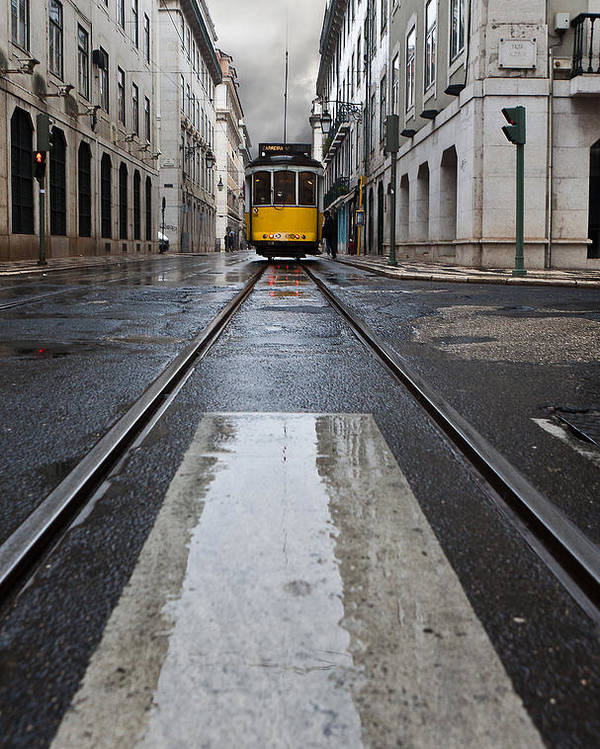 Lisbon Poster featuring the photograph The 28 by Jorge Maia