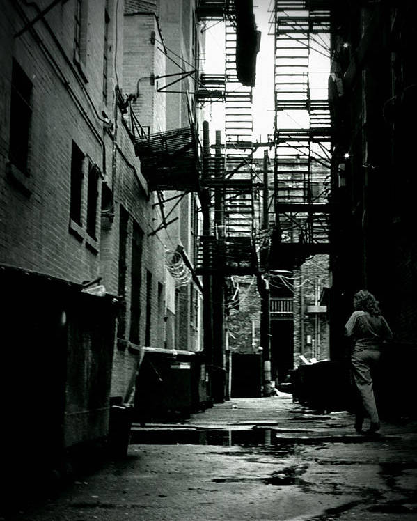 City Poster featuring the photograph The Alleyway by Michelle Calkins