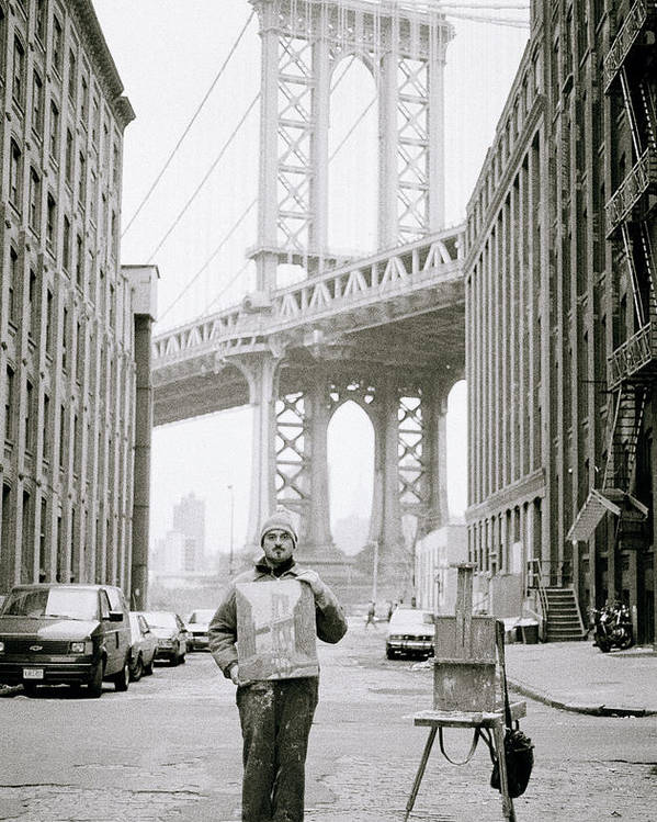 Artist Poster featuring the photograph The Artist In New York by Shaun Higson