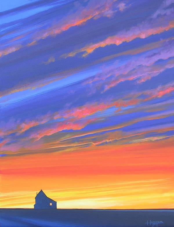 Sunset Poster featuring the painting The Aunt's House by Hunter Jay